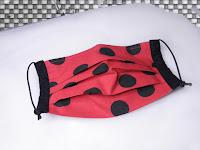 face mask, for men, women fashion, grey face mask,dots, polka dots, red black,travel mask, dust mask, Etsy shop, Vesna Kolobaric
