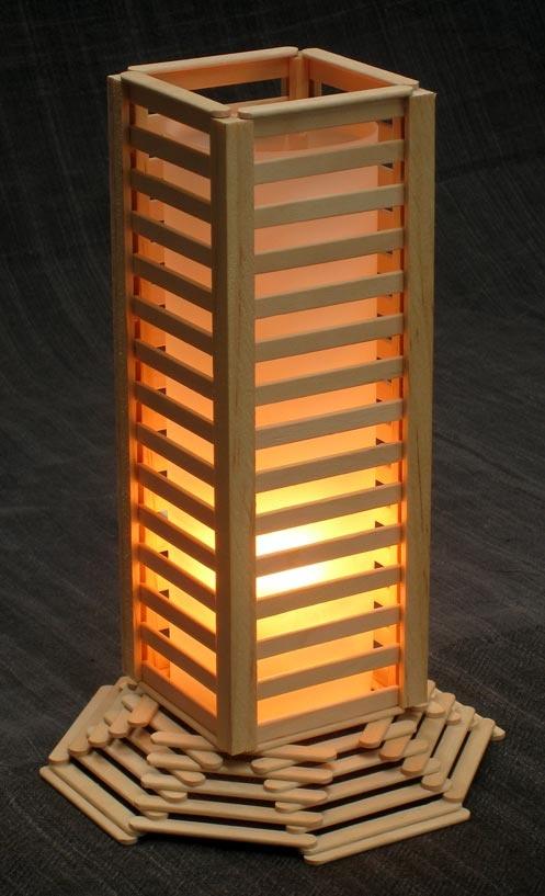 Lampu kamar cantik dari stik es krim | Hal-Lima