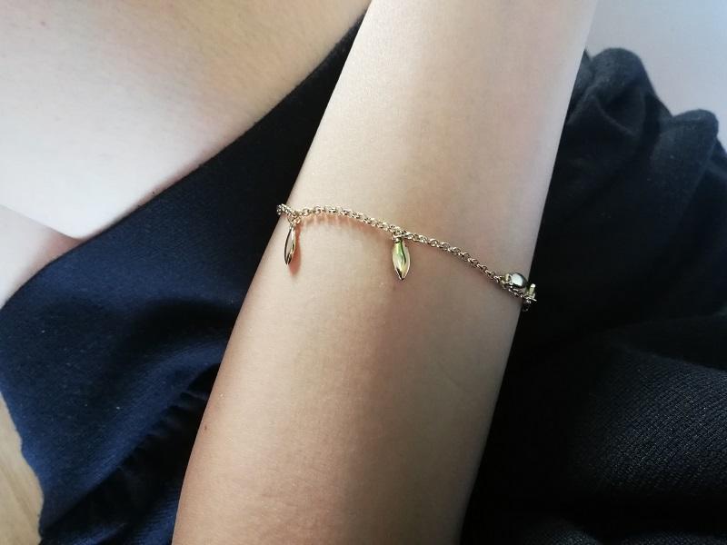 Avon Maxima bransoletka pozłacany 18-karatowym złotem