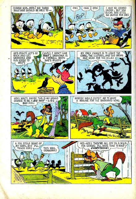 Grandma Duck's Farm Friends #1010 dell 1950s comic book page by Carl Barks