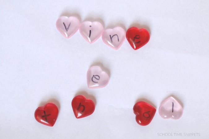 valentines spelling activity