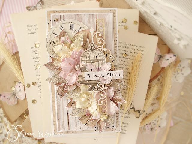 Kartki ślubne w stylu shabby chic / Wedding cards in a shabby chic style