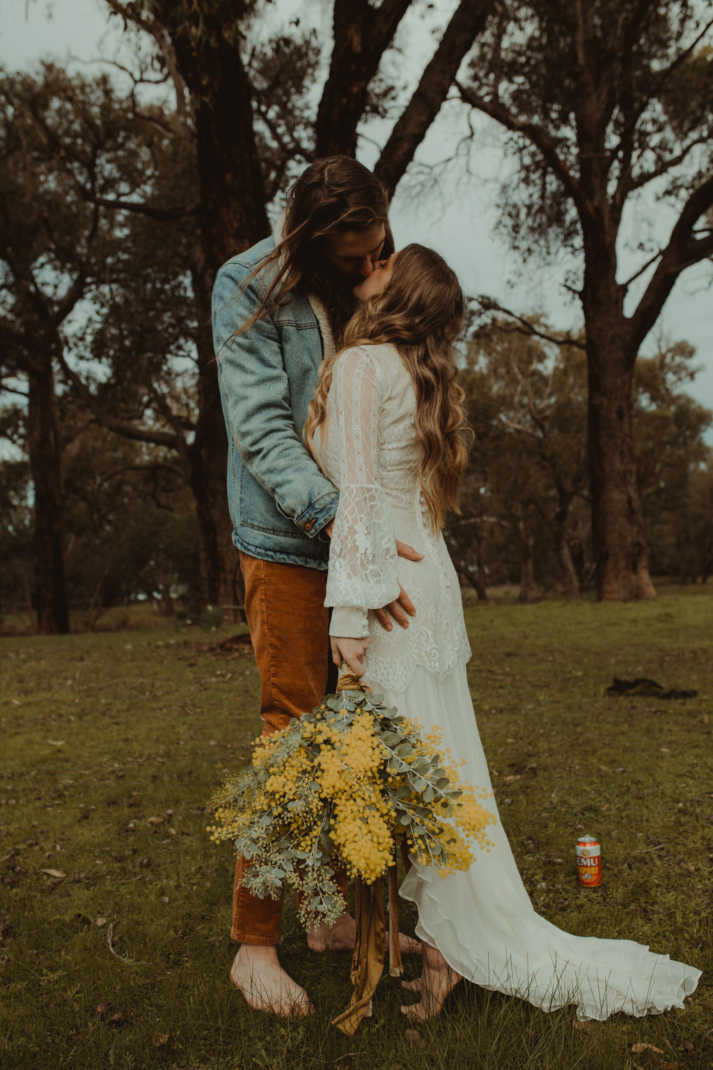 sullivan & co photography perth weddings retro hipster vintage bridal gown floral design styling