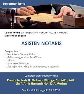 Asisten Notaris di Kantor Notaris H Makmur Ritonga SH MKn MH