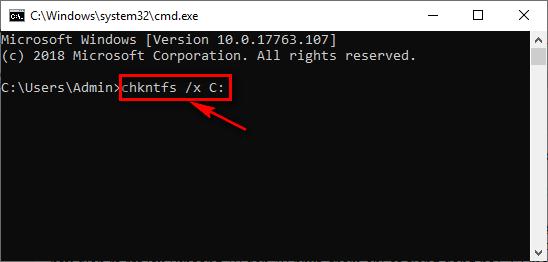 Tắt Check Disk Windows 10 bằng lệnh trong cmd