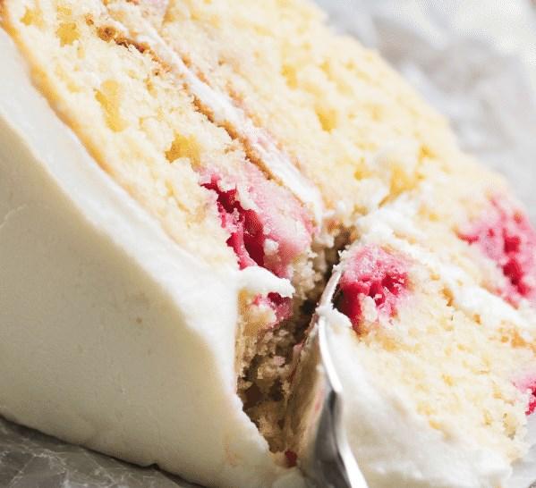 RASPBERRY LEMON CAKE #desserts #sweets