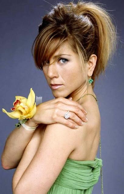 Foto de Jennifer Aniston con el cabello sujeto