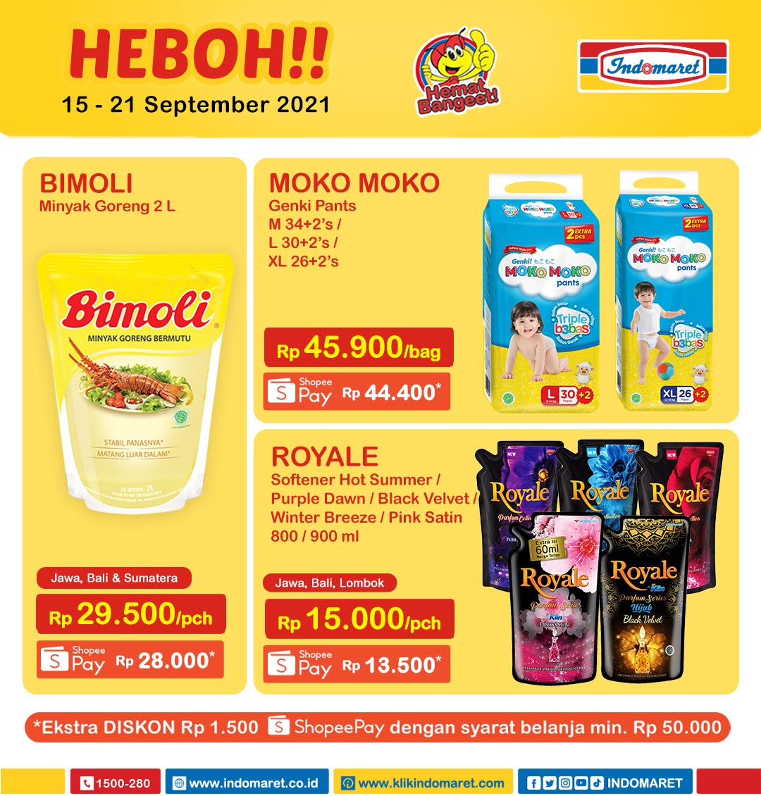 Promo INDOMARET Heboh, Product of The Week 15 - 21 September 2021