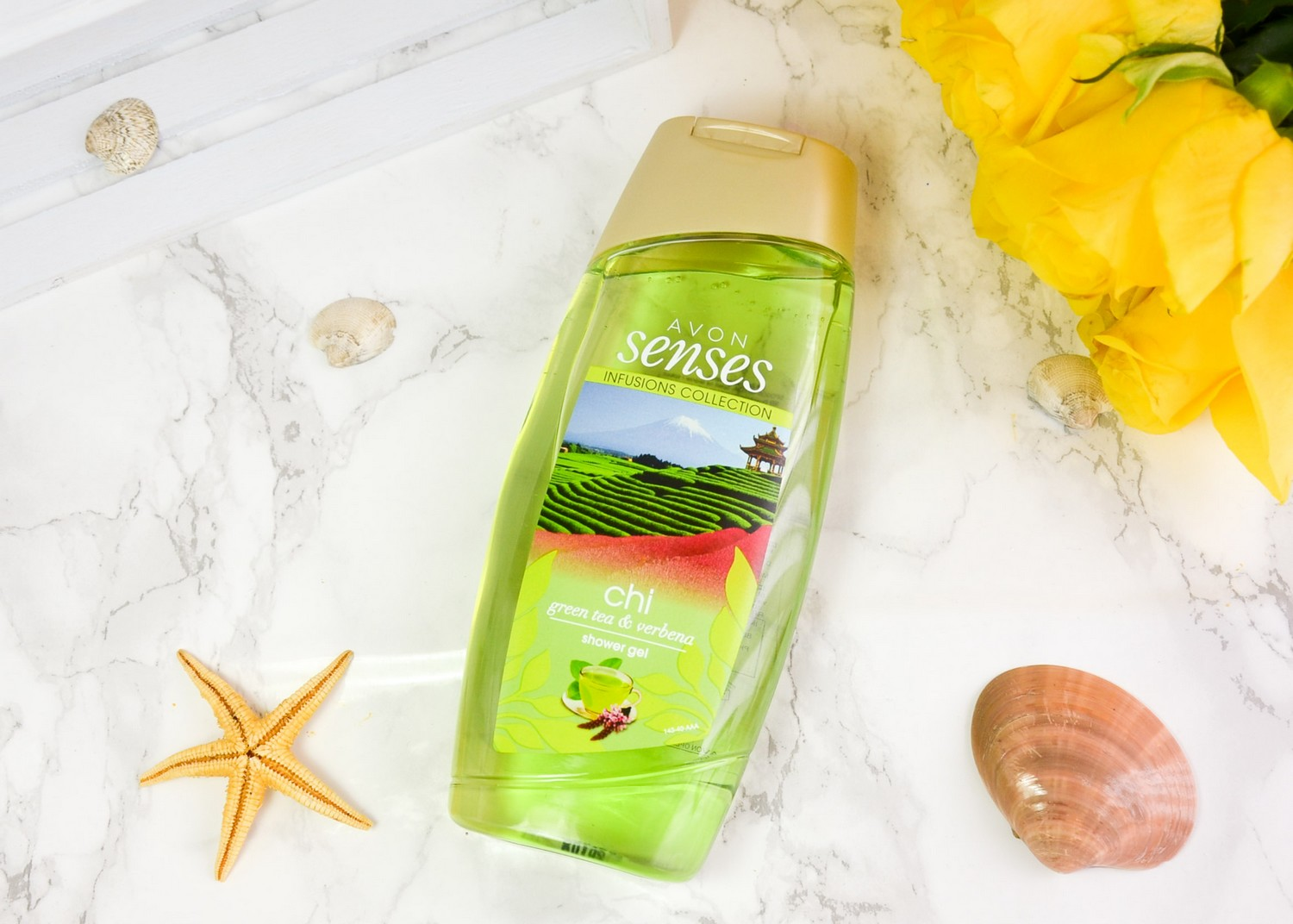 Summer 2019 Goodies From Avon | Avon Senses Infusions Collection Chi Green Tea & Verbena Shower Gel