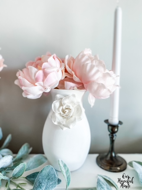 romantic shabby chic peony vase