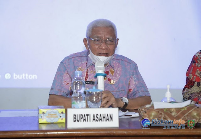 Surya Pimpin Rakor Kesiapan Pemkab Asahan Lakukan Vaksinasi COVID-19.lelemuku.com.jpg