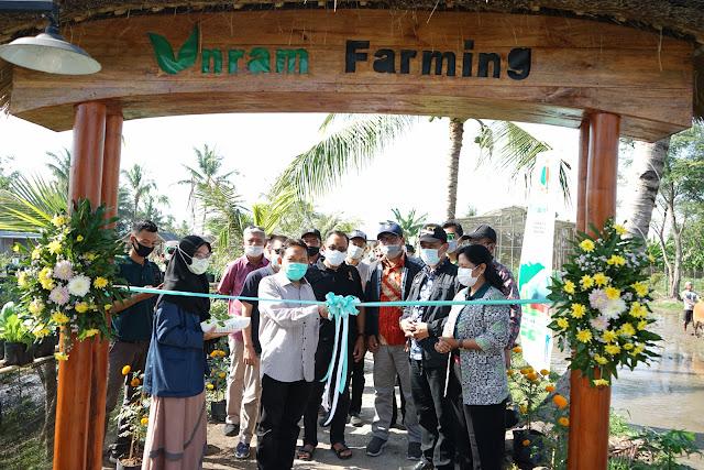 Rektor Unram Launching Taman Edukasi Unram Farming