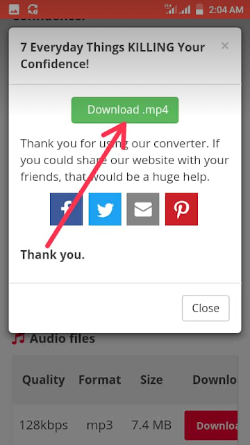 a pop up window with download.mp4 button appears