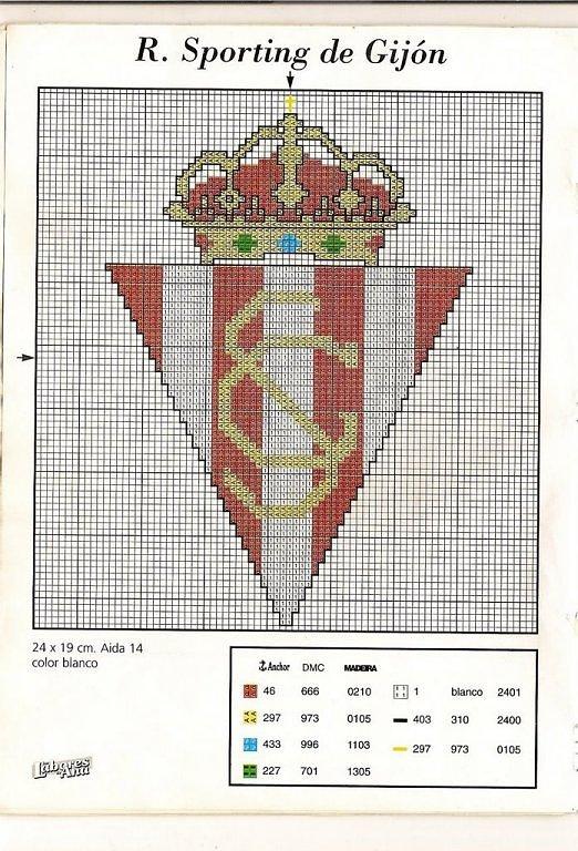 GRAFICOS PUNTO DE CRUZ GRATIS : ESCUDOS DE FUTBOL(51)