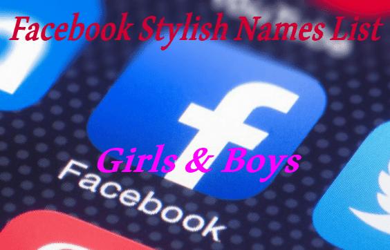 700 + Latest Facebook Stylish Names List 2019 - BANDA NEW