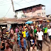"Over 2 Million Guys Storm The Street Today In Isolo, Ilasa ""One Million Boys"" Run Away"
