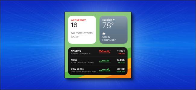 أدوات iPadOS 14 على iPad