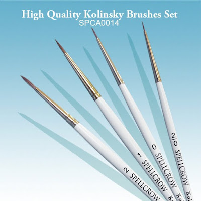Kolinsky Brushes Set