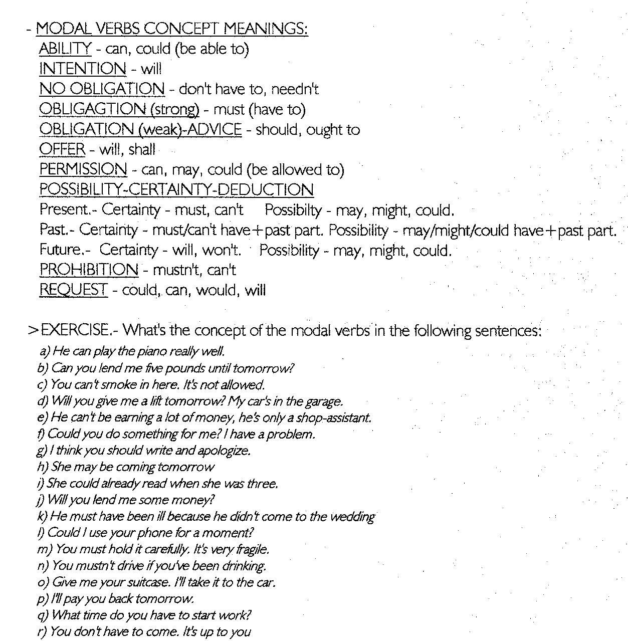 Favoloso Click on: ENGLISH MODAL VERBS PX66