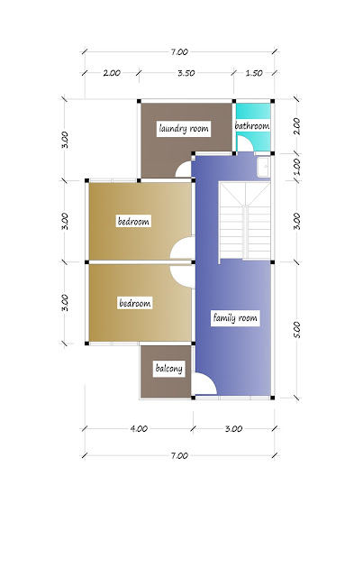 2nd floor plan of beautiful house plan 21a