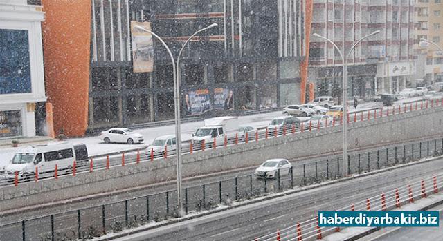 DİYARBAKIR-Meteoroloji 15'inci Bölge Müdürlüğü, Diyarbakır Bölge Tahmin ve Uyarı Merkezinden yoğun kar yağışı uyarısı yapılarak buzlanma ve ulaşımdaki aksaklıklara dikkat çekildi.