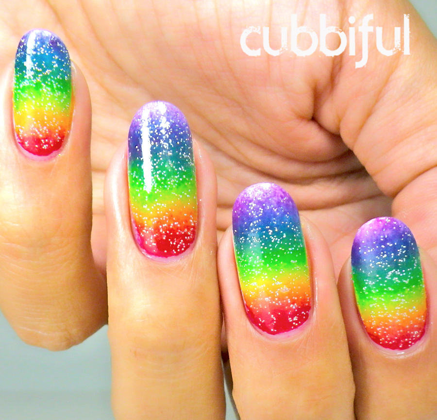 31DC2014 Rainbow Nails