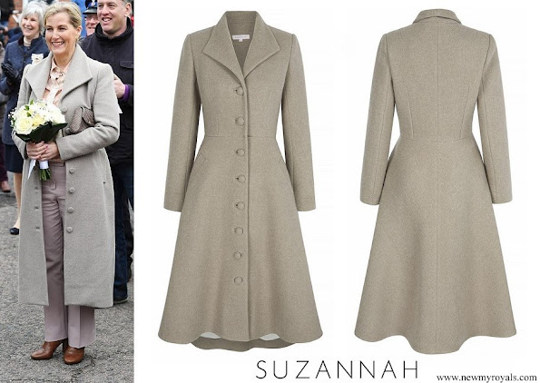 The Countess of Wessex wore Suzannah Lambswool Coat