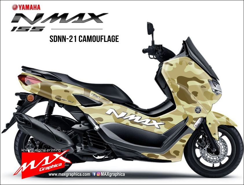 stiker decal new nmax doreng camouflage