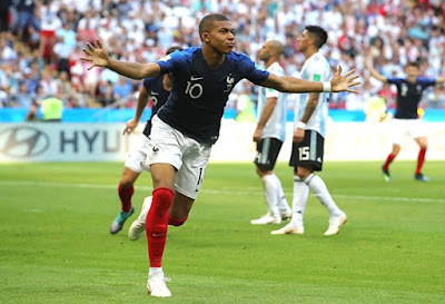 Russia 2018 : France 4-3 Argentina