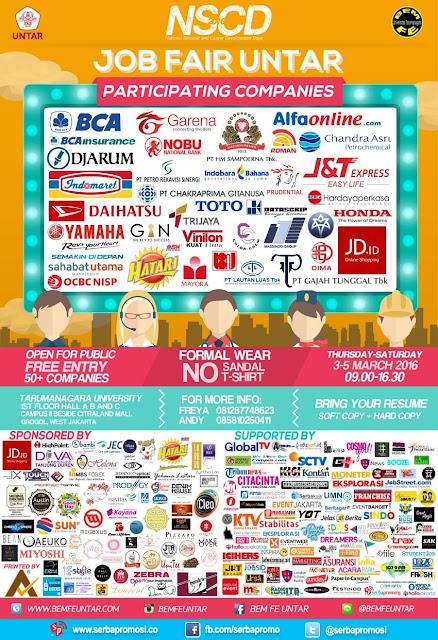 Job Fair Universitas Tarumanagara (NSCD) Pada 3-5 Maret 2016