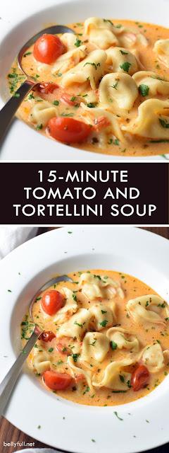 15-Minute Tomato and Tortellini Soup Recipe