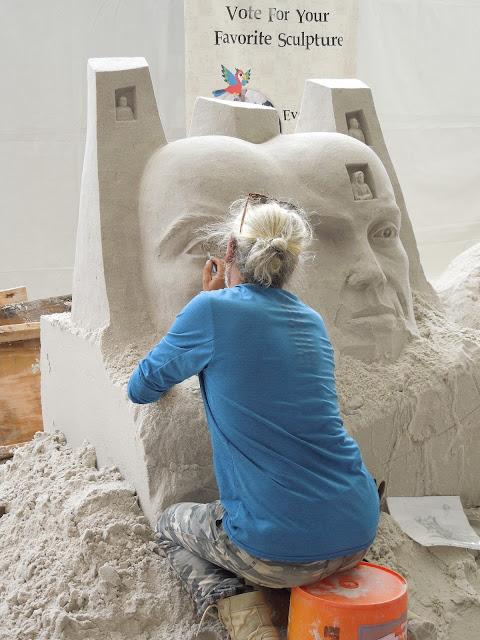 Sugar Sand Festival sculptor