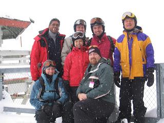 David Brodosi and friends skiing in Alaska