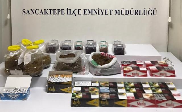 Sancaktepe'de kaçak tütün baskını