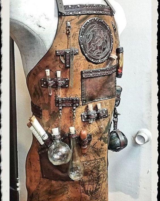 Steampunk leather apron