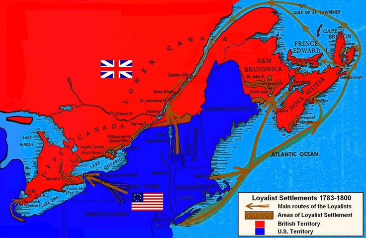The Loyalists Were Not Immigrants Canada First - Map of loyalists leaving us