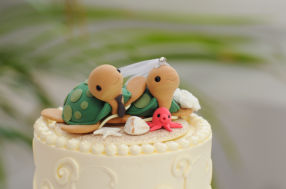 sea turtle wedding cake topper congrats amp richard island bliss weddings 19729