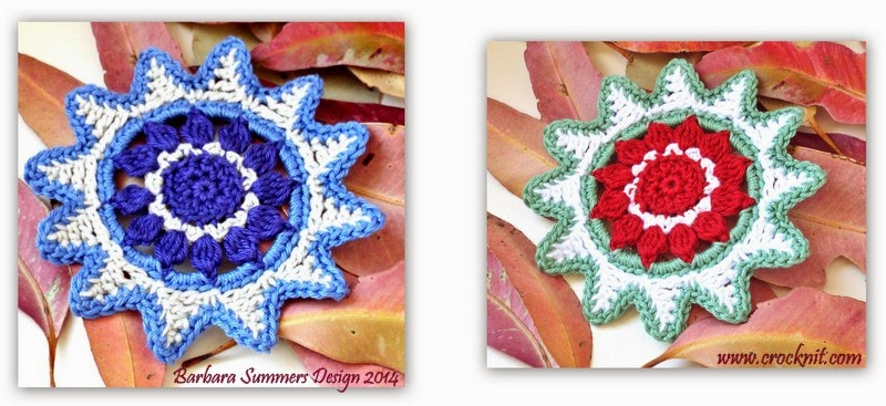 crochet christmas star coaster garland ornament