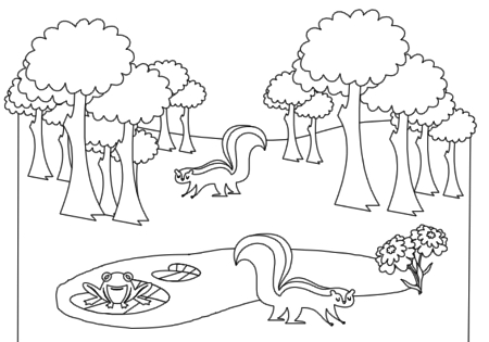 black and white forest animals coloring pages | Bindlegrim (Holiday Artist and Author): Free Animal ...