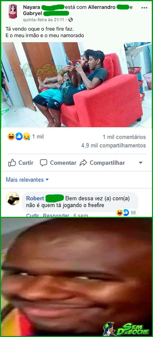 OLHA O QUE O FREE FIRE FAZ