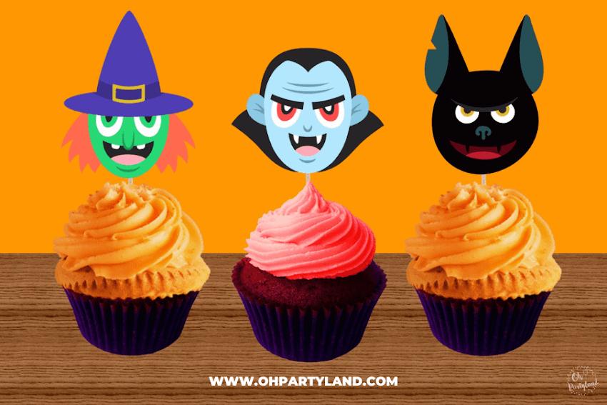 Free printable Halloween Cupcake Toppers
