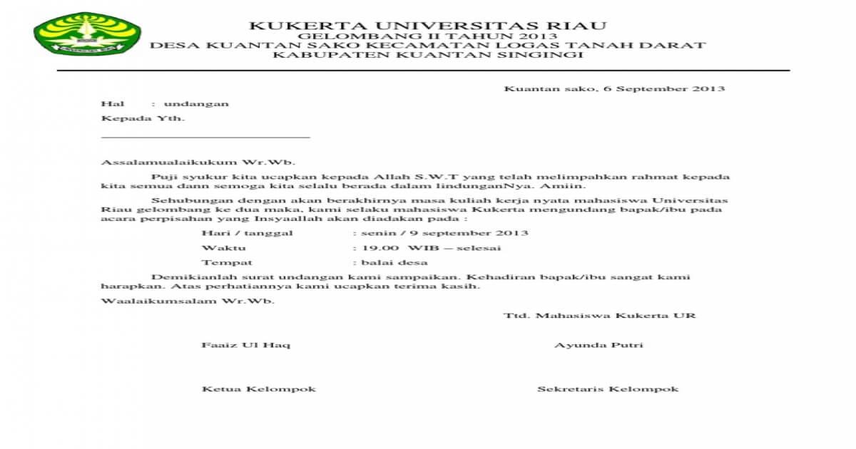 Contoh Surat Undangan Perhpisaha N Bahasa Sunda