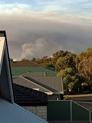 Australian bushfires are always a concern - taken from our balcony.
