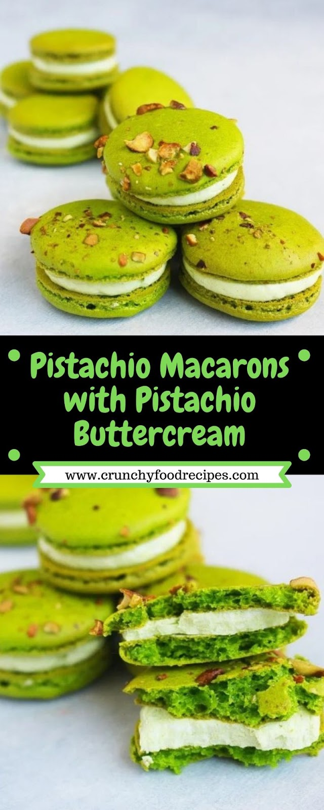 Pistachio Macarons with Pistachio Buttercream