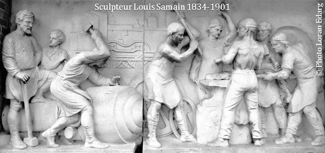 Gare du Midi 1869-1949 - Bruxelles disparu - Hauts-reliefs du portique - Sculpteur Louis Samain - Que sont-ils devenus après la destruction de l'ancienne gare du Midi ? - Bruxelles-Bruxellons
