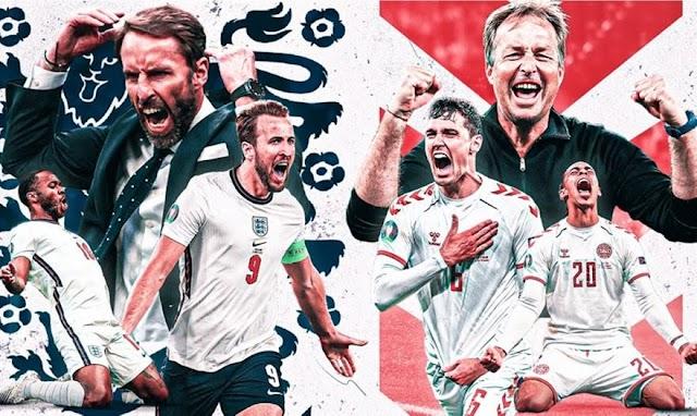 """Αγγλία-Δανία: Μάχη για τον τελικό, φαβορί τα """"Τρία λιοντάρια"""" , αουτσάιντερ η απίστευτη Δανία"""