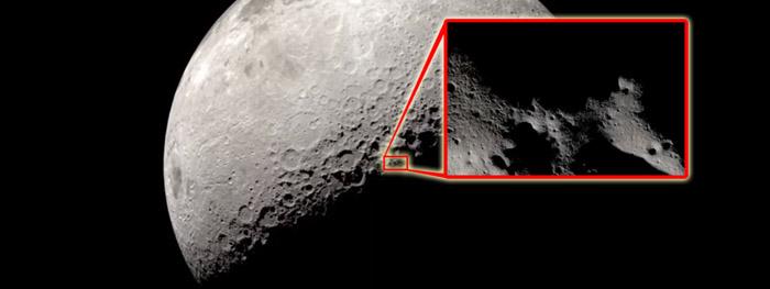video mostra sombras de movendo na Lua