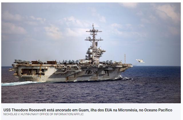 Coronavírus obriga evacuação de porta-aviões americano no Pacífico