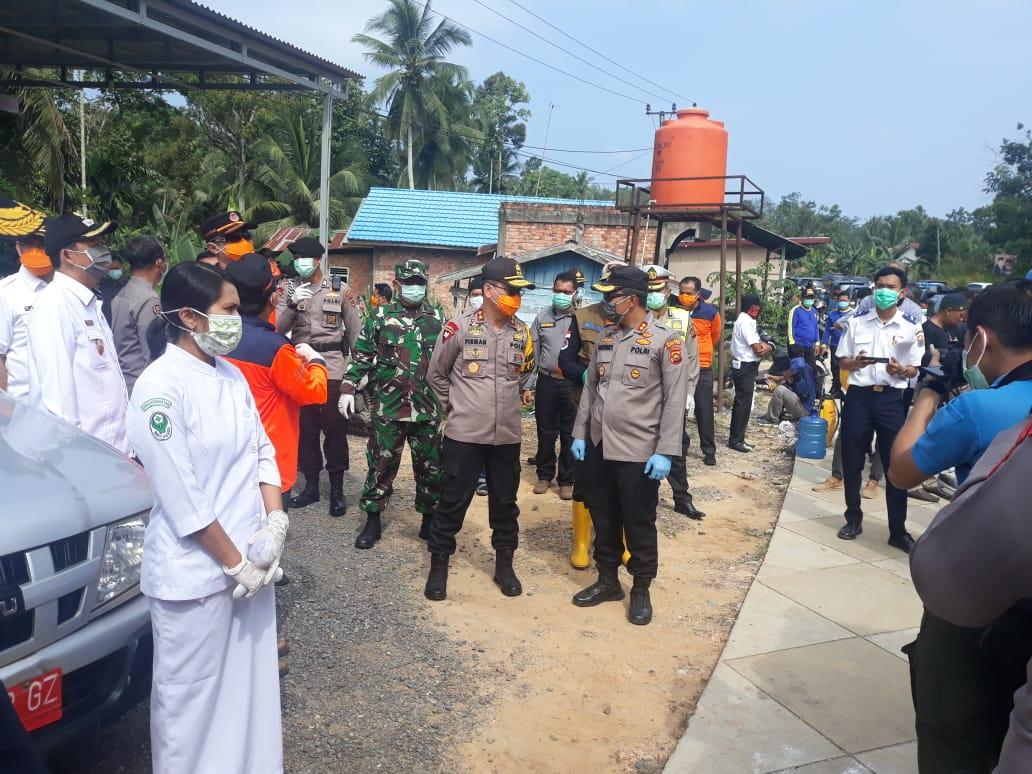 Cegah Corona, Kapolda dan Gubernur Jambi Pantau Posko perbatasan Jambi Sumsel