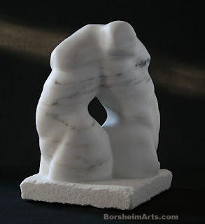 Back to Back marble sculpture direct carving figure art